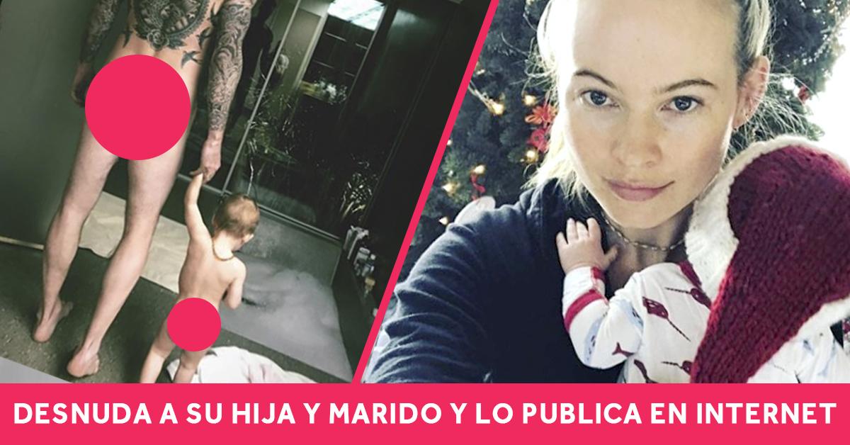«Melocotones al aire» La modelo de Victoria's Secret que ha publicado el trasero de su hijo pequeño y de su marido encendiendo las redes