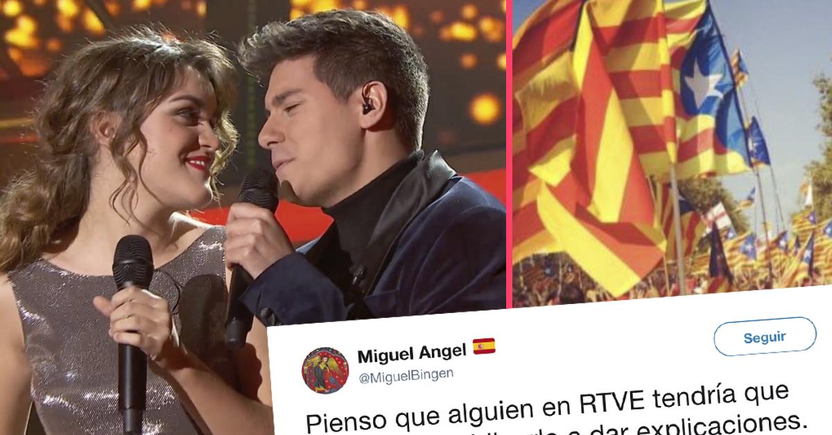 Polémica en las redes por la imagen Independentista de Alfred de OT con la que va a representar a España en Eurovisión