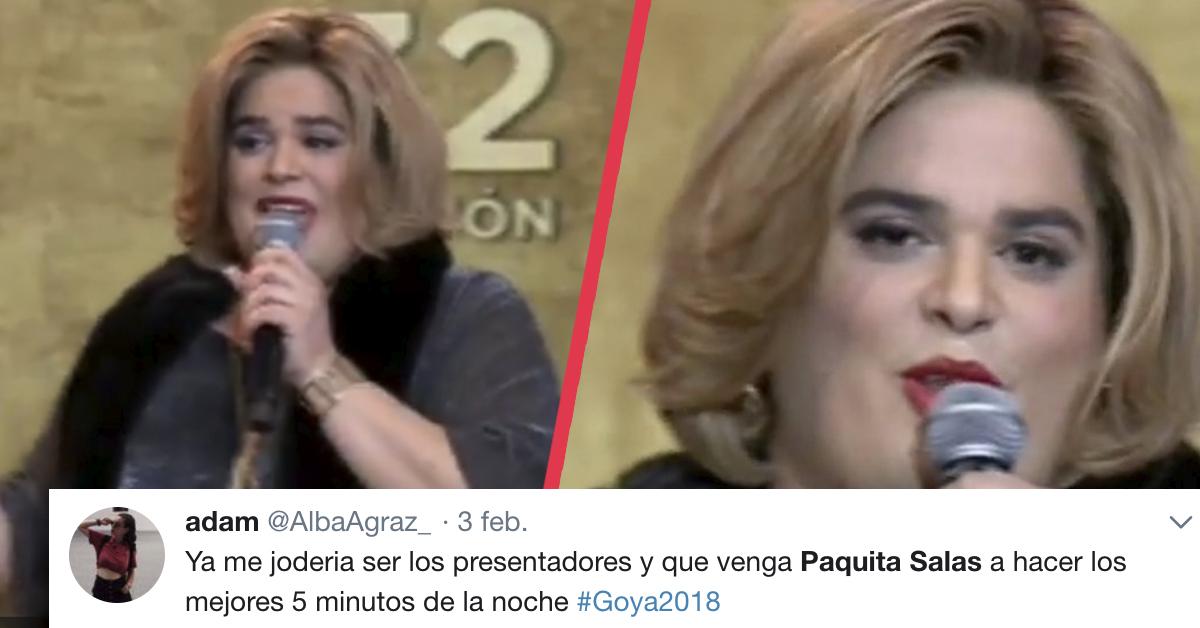 «De aquí a los Goya» El monólogo de Paquita Salsa para sustituir a Dani Rovira que ha provocado las risas en redes