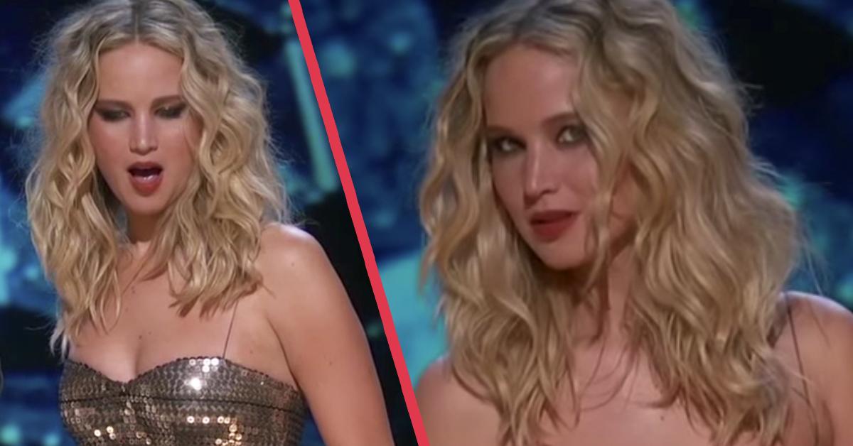 Jennifer Lawrence vuelve a convertirse en la protagonista de los Oscar liándola con su particular Show