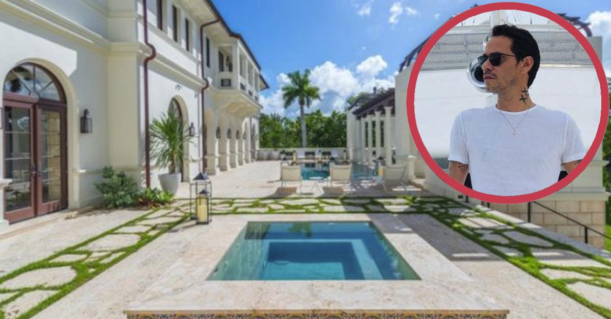 7 Imágenes de la mansión que tiene Marc Anthony en Miami valorada en 20 millones