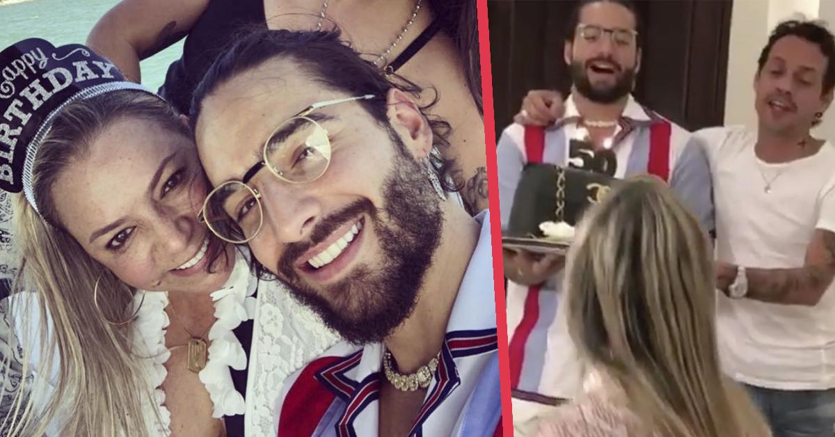 Maluma se gana las burlas en redes por la celebración y las fotos del 50 cumpleaños de su madre