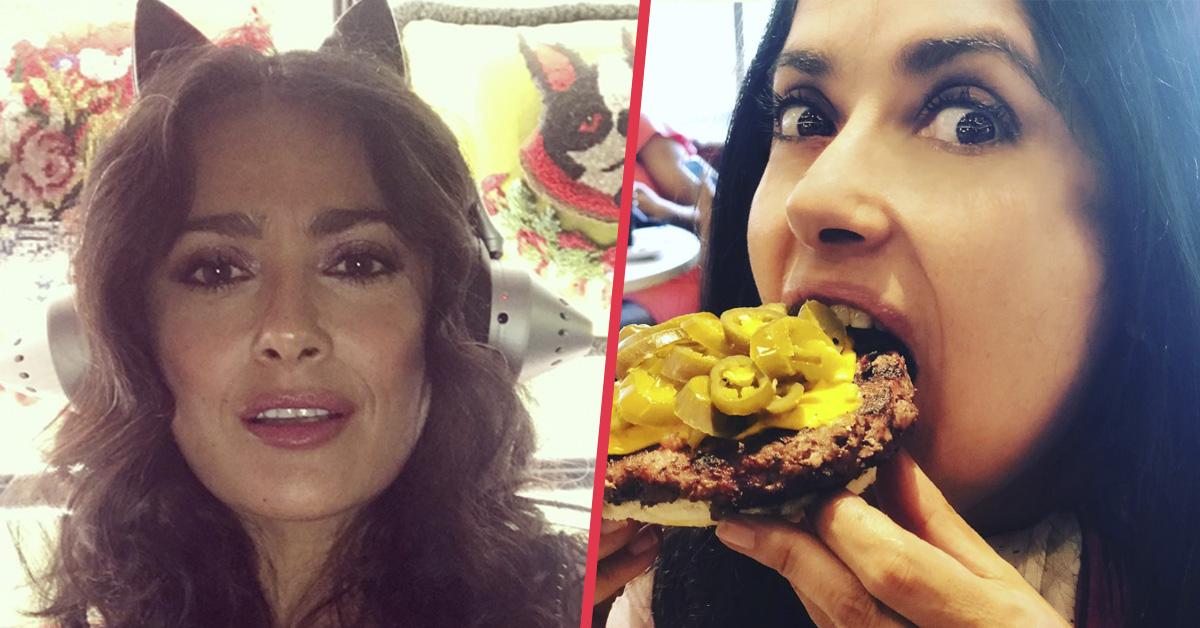 «Es aún más hermosa» Salma Hayek se quita el maquillaje y muestra su aspecto real con canas