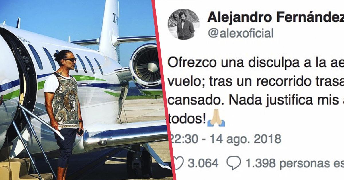 «Fue muy desagradable» Alejandro Fernández es expulsado de un avión por sembrar el pánico antes del despegue