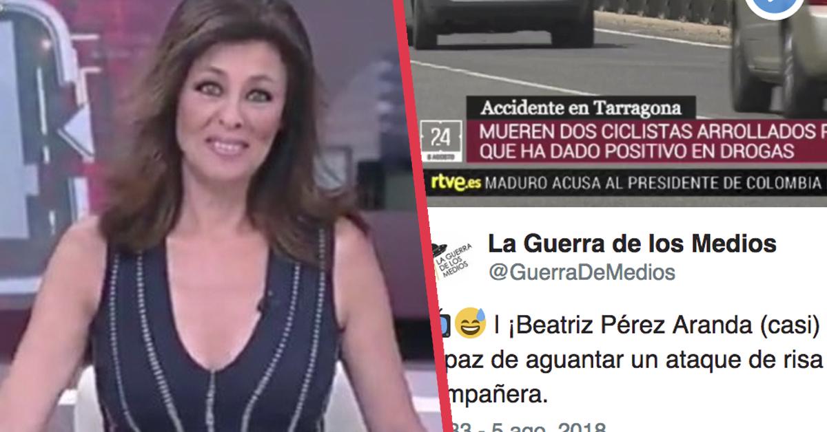 Una presentadora sufre un ataque de risa en directo por el error que cometió su compañera segundos antes